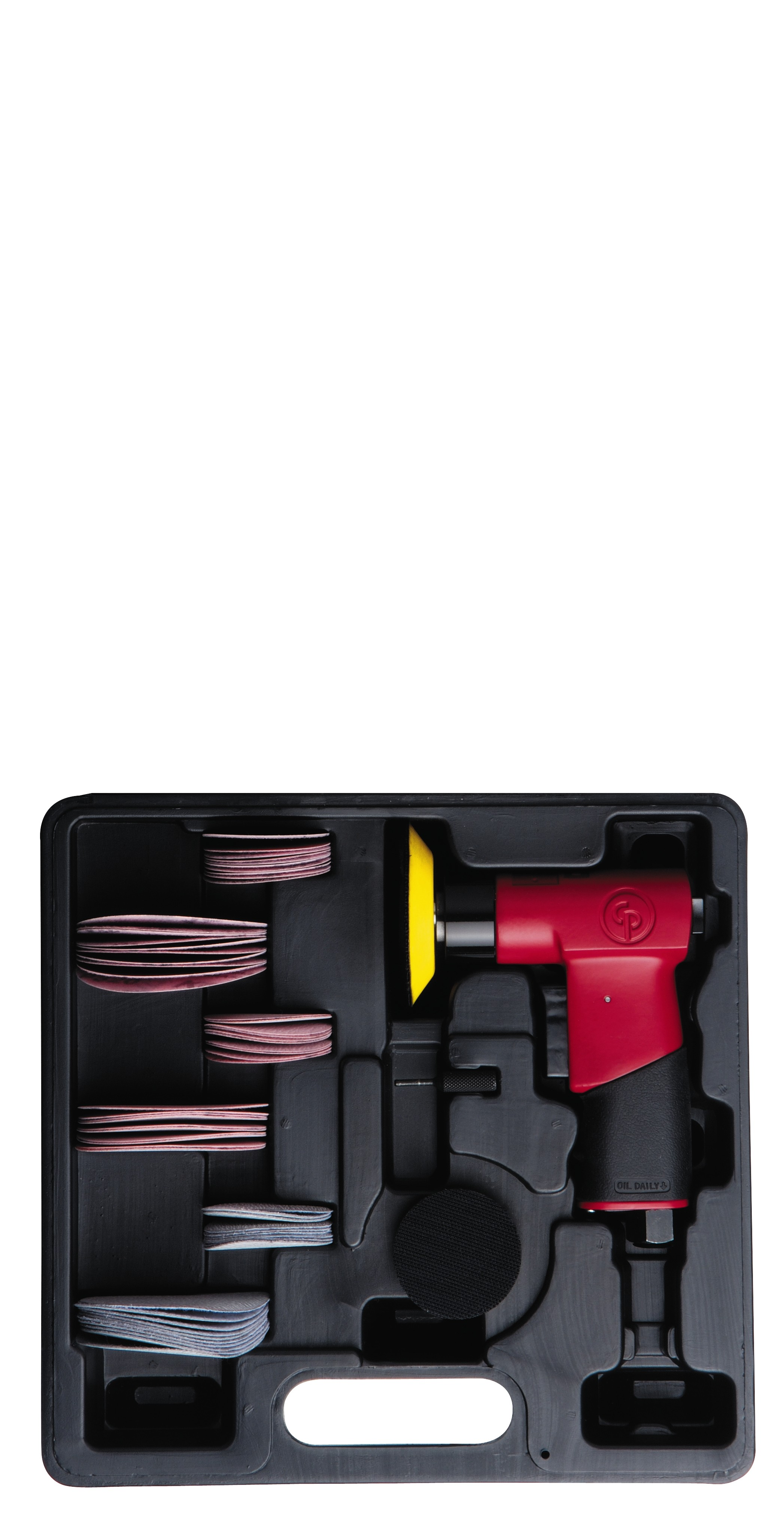 CHICAGO PNEUMATIC CP7200S AIR PISTOL SANDER KIT WITH 2 & 3 INCH PADS