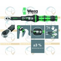 """WERA 1/4"""" SD TORQUE WRENCH WITH REVERSIBLE RATCHET 2.5 - 25NM CLICK TORQUE A 5"""