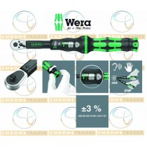"""WERA 1/4"""" HEX DR TORQUE WRENCH WITH REVERSIBLE RATCHET 2.5 - 25NM CLICK TORQUE A 6"""