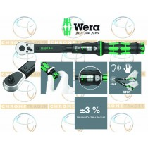 """WERA 1/2"""" SD TORQUE WRENCH WITH REVERSIBLE RATCHET 20-100NM CLICK TORQUE C 2"""