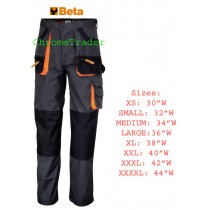 """BETA 7900E/L MULTIPOCKET STYLE WORK TROUSERS LARGE (Waist size 36"""")"""