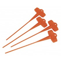 APPLICATOR NOZZLE STOPPER PACK OF 4 FROM SEALEY AK391 SYSP