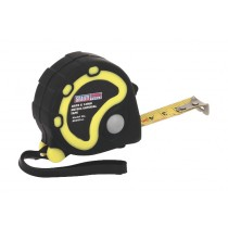 RUBBER MEASURING TAPE 3MTR(10FT) X 16MM METRIC/AF FROM SEALEY AK988 SYSP