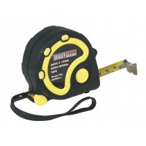 RUBBER MEASURING TAPE 5MTR(16FT) X 19MM METRIC/AF FROM SEALEY AK989 SYSP