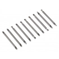 """DOUBLE END DRILL BIT SET 10PC 1/8"""" FROM SEALEY AK9910 SYSP"""