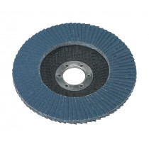 FLAP DISC ZIRCONIUM DIA.125MM 22MM BORE 80GRIT FROM SEALEY FD12580 SYSP