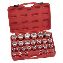 """SOCKET SET 17-60MM 27 PIECES 3/4"""" SQ DR FROM GENIUS TOOLS GS-627M"""
