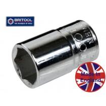 "BRITOOL ENGLAND SOCKET 3/8"" SQ DR 7/16"" AF HEXAGON PROFILE (6 POINT) MH437"