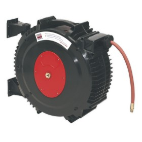 RETRACTABLE AIR HOSE REEL 15MTR DIA.13MM ID RUBBER HOSE FROM SEALEY SA8812 SYD